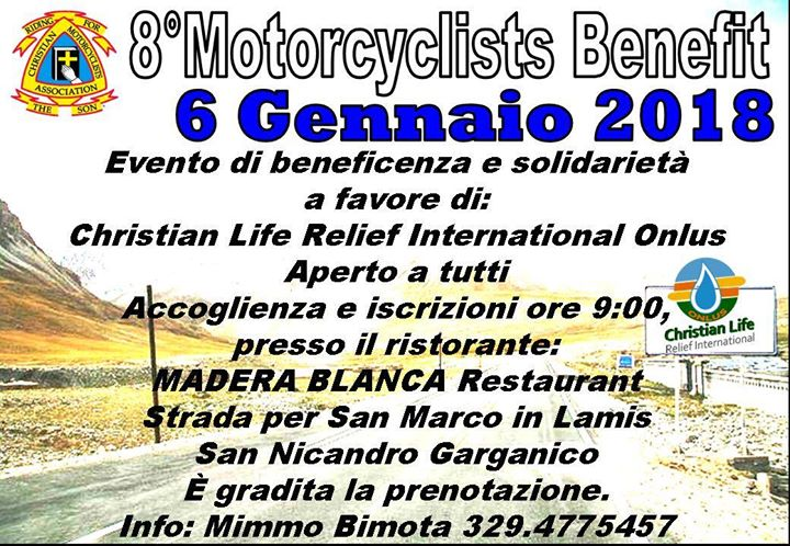 8° MOTORCYCLISTS BENEFIT 2018